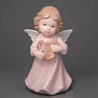 """Фарфоровый ангелочек """"ангел с арфой""""  подарок девушке"""