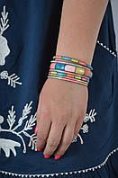 Браслет ручной работы разноцветный с костью, 65 грн оптом