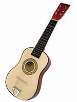 Детская 6-струнная акустическая гитара. Деревянная музыкальная игрушка ТМ Bino, 86553