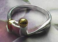 """Посеребренное женское кольцо """"завиток"""""""
