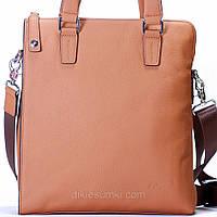 Мужская сумка на плечо Kabinias кожаная бежевый цвет