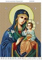 """Схема для вышивки бисером """"Пресвятая Богородица Неувядаемый цвет""""."""