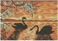 """Схема для вышивки бисером """"Гордые птицы""""."""