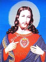"""Схема для вышивки бисером """"Спаситель Иисус Христос""""."""