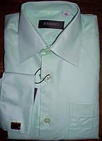 Рубашка школьная однотонная с запонками