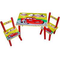 Детский набор BAMBI M 0292 Столик «Тачки» с двумя стульчиками
