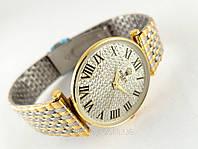 Женские часы ROLEX - тонкий корпус, металлический браслет, расцветка золото.