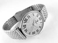 Женские часы ROLEX - тонкий корпус, металлический браслет, расцветка сталь полированная