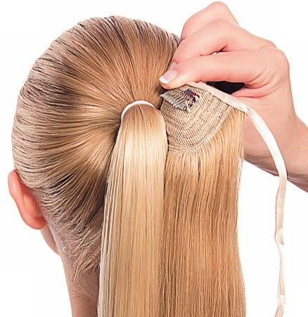 техника выполнения прически из искусственных волос фото