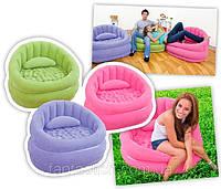 Надувное кресло INTEX 68563 синий,зелёный,красный 91х102х65см IKD /97-42