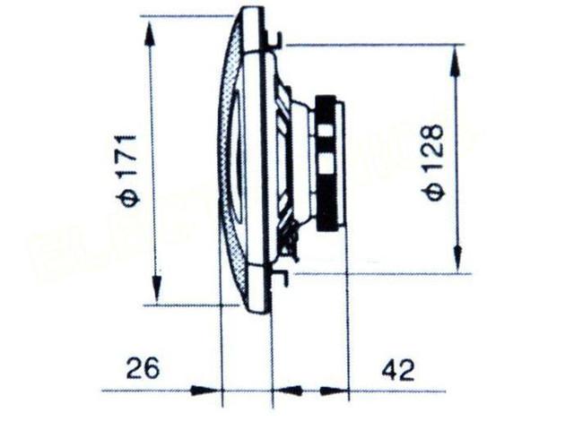 Акустика Pioneer комплект 2 динамика TS-A1674S 160 мм, мощность 300 W! купить - фото 3