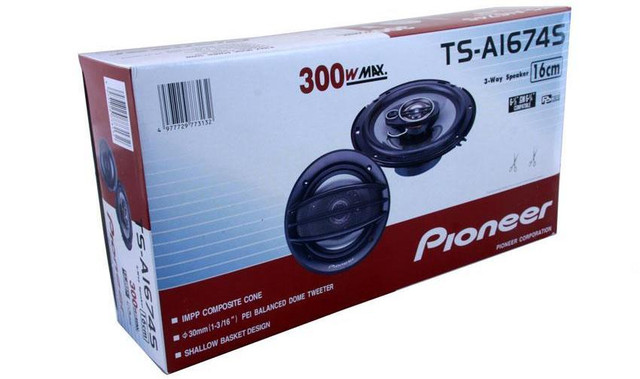 Акустика Pioneer комплект 2 динамика TS-A1674S 160 мм, мощность 300 W! купить - фото 4