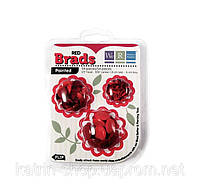 Брадсы We R Memory Keepers — Basic Brads Painted, 54 шт Red