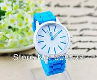 Женские часы GENEVA Женева с силиконовым ремешком, женские наручные часы интернет магазин