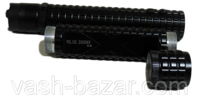 Электрошокер Металлическая дубинка X8 (разборная дубинка-шокер Спецназ Кореи), купить электрошокер X8 + фонарь - фото 3