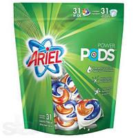 Капсулы для стирки Ariel power pods 31 шт 3-х концентрат для цветных вещей.