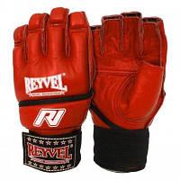 Перчатки для рукопашного боя кожаные REYVEL размер М,XL