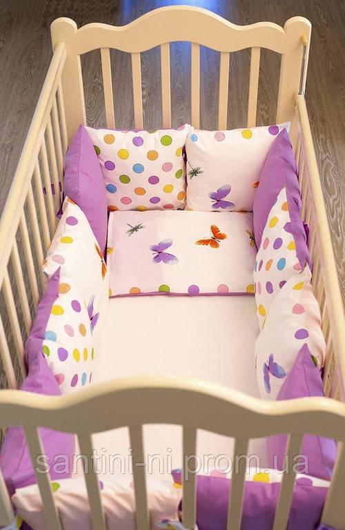 Бортики своими руками в детскую кроватку для девочки