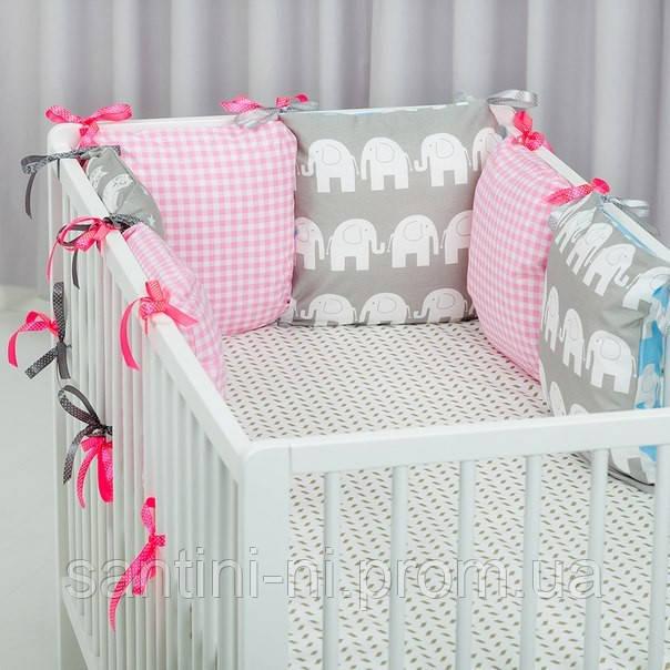 Бамперы для кроватки своими руками