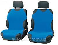 Майки автомобильные 1+1 цвет синий
