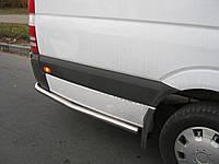 Продолжения порогов на Mercedes Sprinter New (трубы)