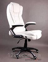 Компьютерное кожаное кресло Veroni белое