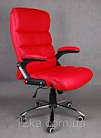 Офисное кожаное кресло Deko раскладное красное