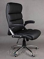 Офисное кожаное кресло Deko раскладное черное