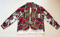 Рубашка  мужская из платка в стиле Матрешка воротник стойка