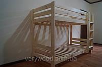 Кровать двухъярусная Ягнята