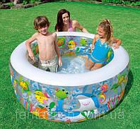 """Детский надувной бассейн INTEX 58480 """"Аквариум"""" 3секц,реф.дно,винил,круг(6+ лет) IKD /27-81"""