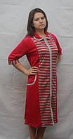 Длинный велюровый халат больших размеров