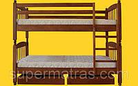 Кровать двухъярусная из натурального дерева Тис Трансформер 3