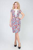 Платье женское с поясом Натали