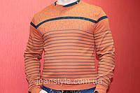 Стильная кофта свитер мужская в полоску OFF