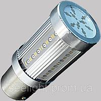 Светодиодная лампа в габарит/стоп сигнал с цоколем 1157(P21/5W)(BAY15D) 24W-Красный