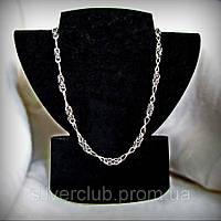 Серебряная цепочка Мальвина+восьмерка ручного плетения 925 пробы