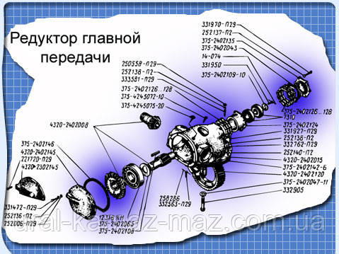 Схема Редуктора главной