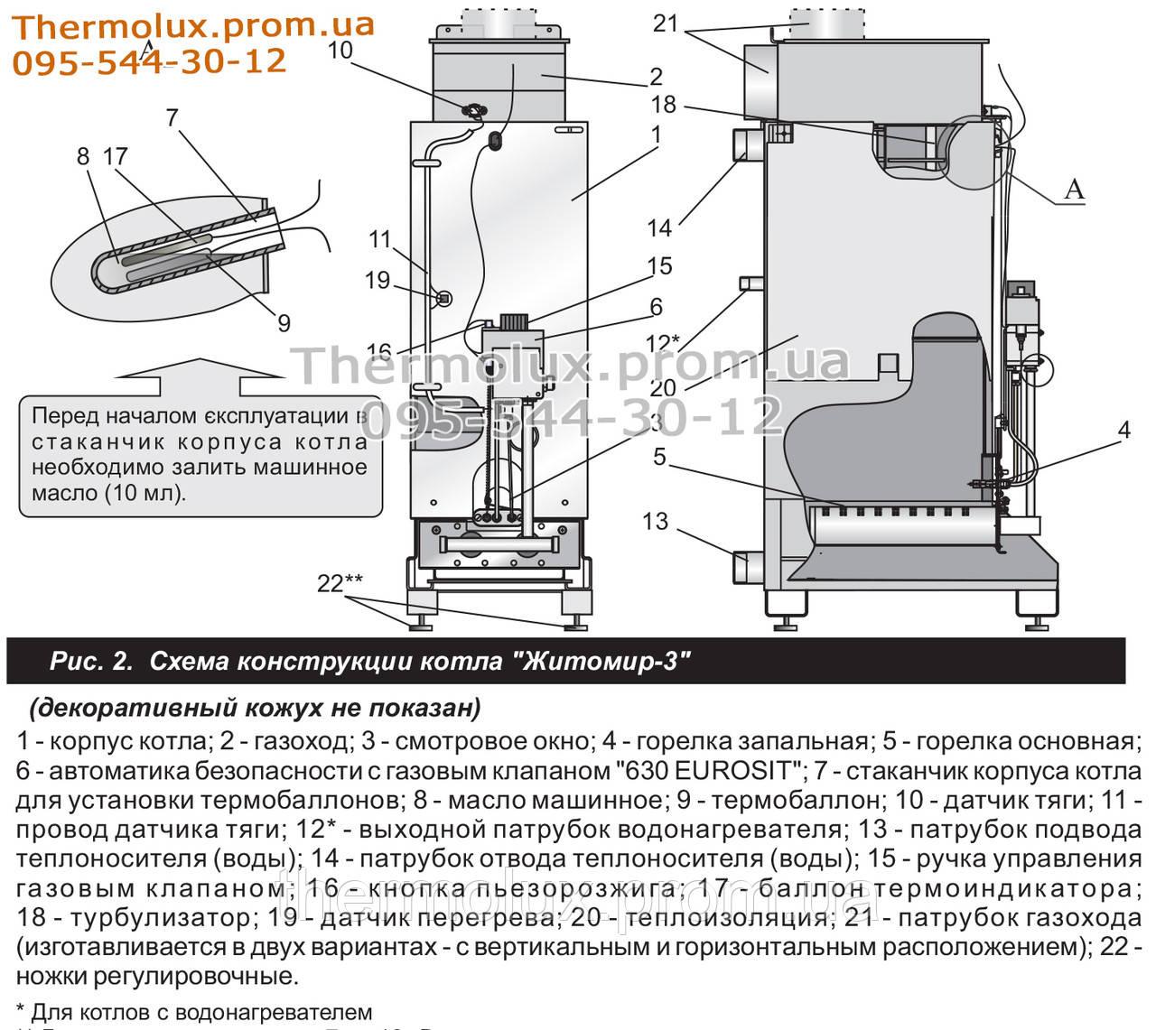 Газовый котел вулкан схема подключения