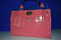 Сумка Прада PRADA ( копия ) лаковая розовая с синим