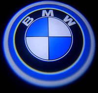 Диодная подсветка дверей с логотипом авто BMW