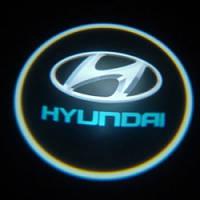 Диодная подсветка дверей с логотипом авто Hyundai
