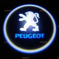 Диодная подсветка дверей с логотипом авто Peugeot