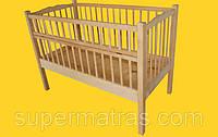 Кроватка детская из натурального дерева Тис
