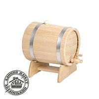 Жбан-бочка для вина дубовая, 5 л (нержав. мет.)