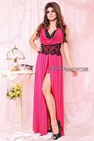 Платье длинное с кружевом