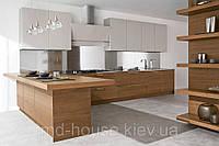 Кухня бело-коричневая Вельвет