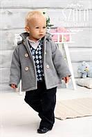 Теплый красивый костюм на мальчика на весну-осень
