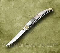 Нож перочинный, складной. Рукоять - речная ракушка.