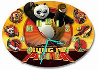 Детские фигурные настенные часы Панда Кунг Фу, Панда Кунфу 30*43 см, часы для детской